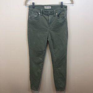 Madewell High Riser Crop, Green, Skinny Jeans, 27
